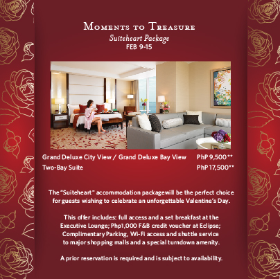Enjoy a Suiteheart Package and celebrate Valentine's Day ...