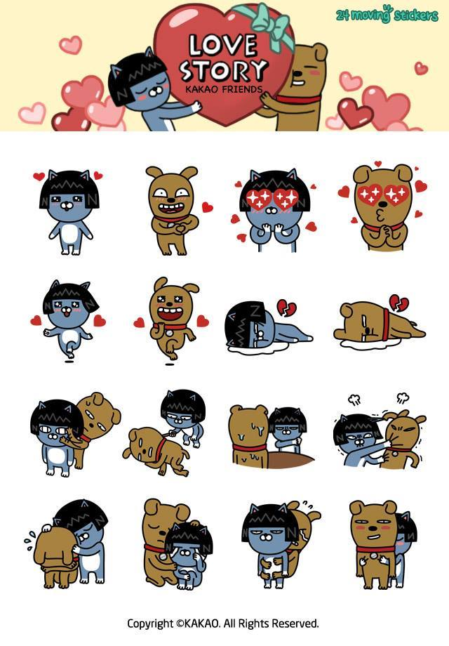 Share the love this season with KakaoTalk's Frodo and Neo ...