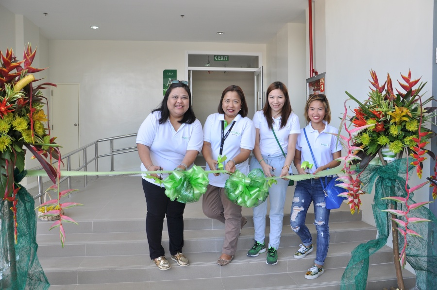 Amaia Land launches the retail strips of Amaia Steps Sucat and Steps Bicutam in Parañaque City. (From L-R: Au Viray, Amaia Sales Geo Head for South Projects; Tricia Macawile, Customer Care Group Manager;  Kristel Manalo, Project Development Manager; and Dana Kison, Project Development Associate.)