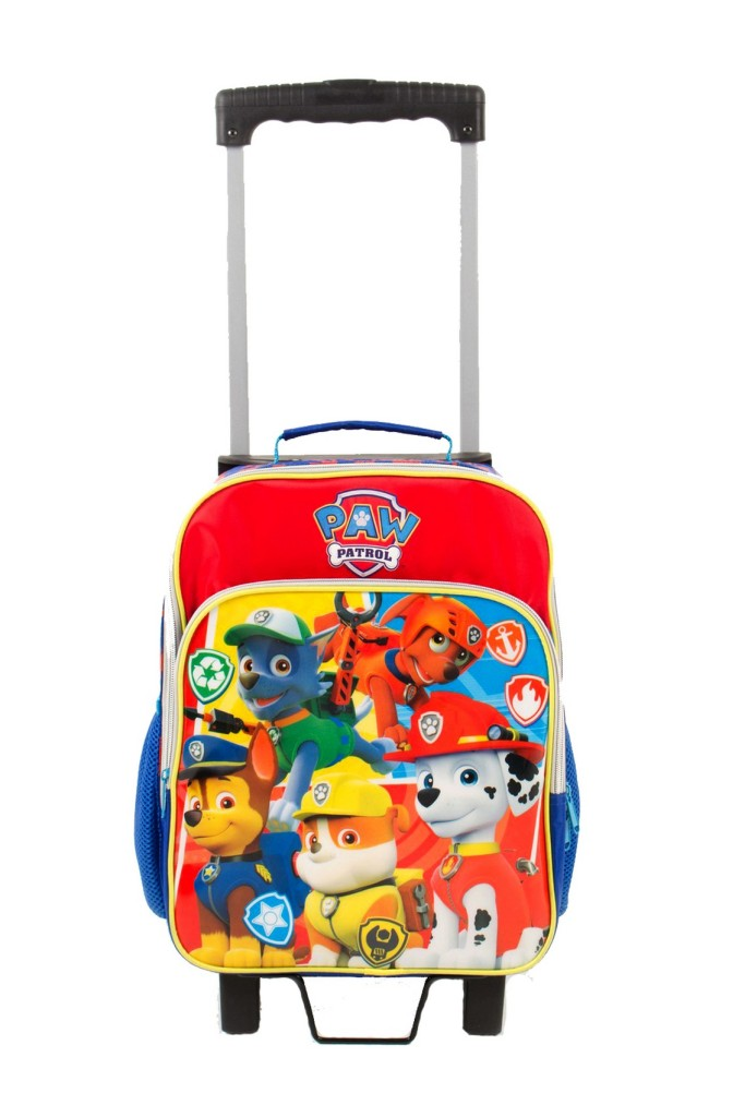 Strolling to school is fun with this Paw Patrol trolley