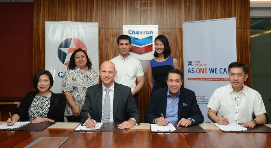 Caltex Ayala Foundation MOA signing