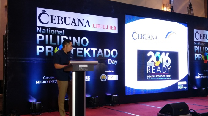 Michael Sena, Integrated Marketing Communications, Group Head, Cebuana Lhuillier, opens wthe floor with his welocme remarks in front of guests and media