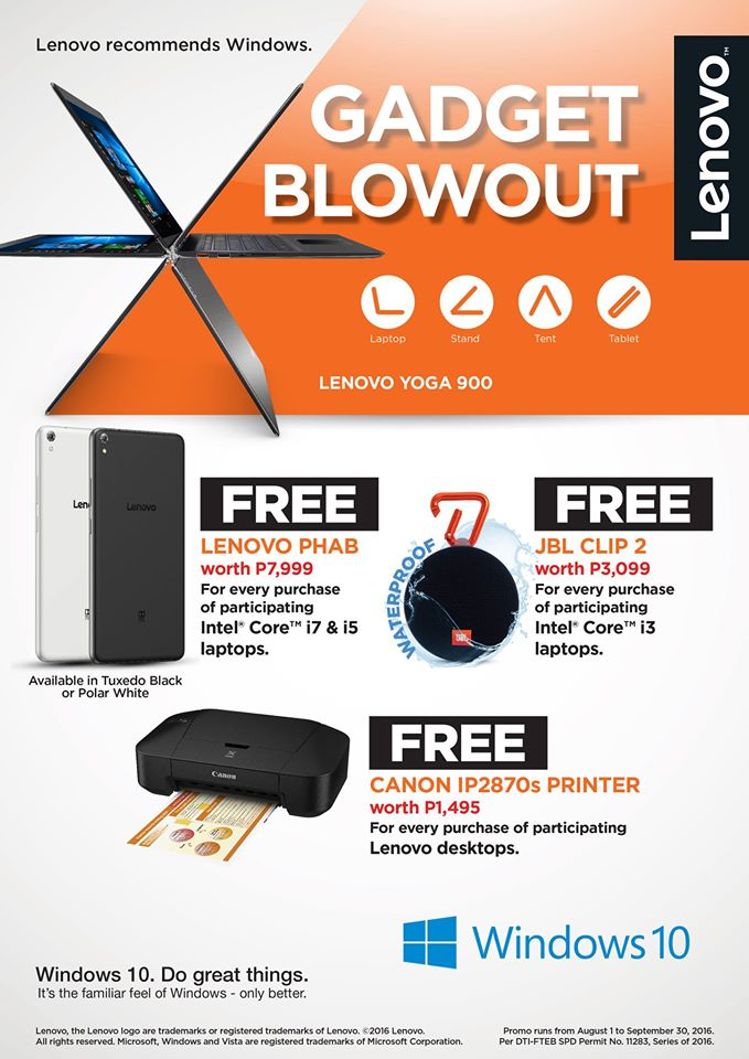 Lenovo offers consumers exciting freebies with the Lenovo Gadget Blowout...