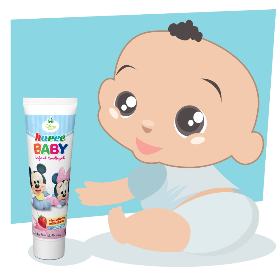 Mommies and daddies can take care of their baby's milk teeth with Hapee Baby Infant Toothgel, effective in preventing cavities, bacterial growth and gum infection.