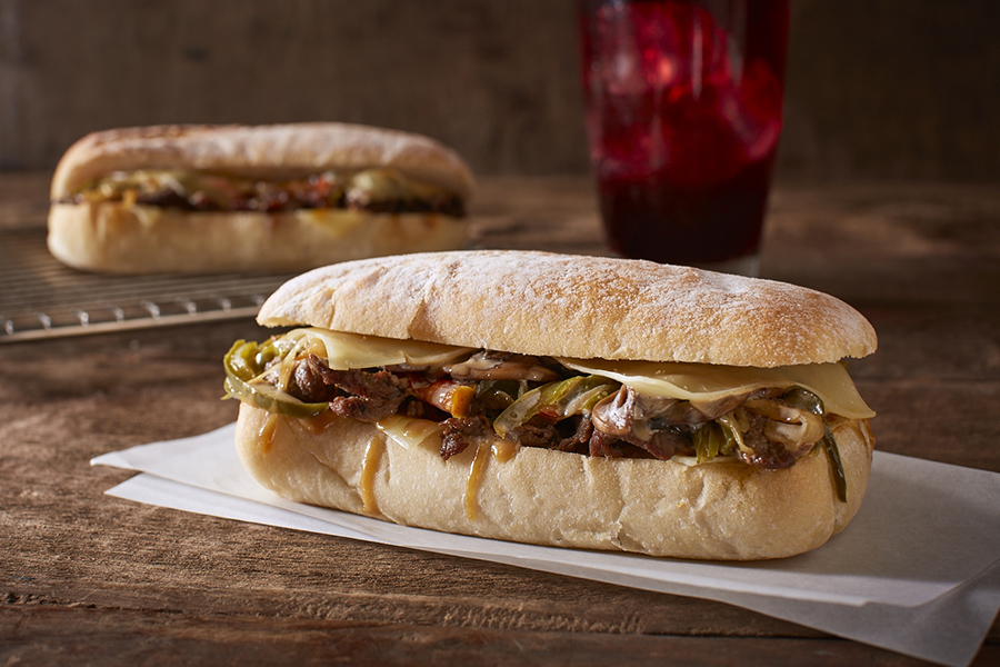 cheese-steak-on-ciabatta-bread