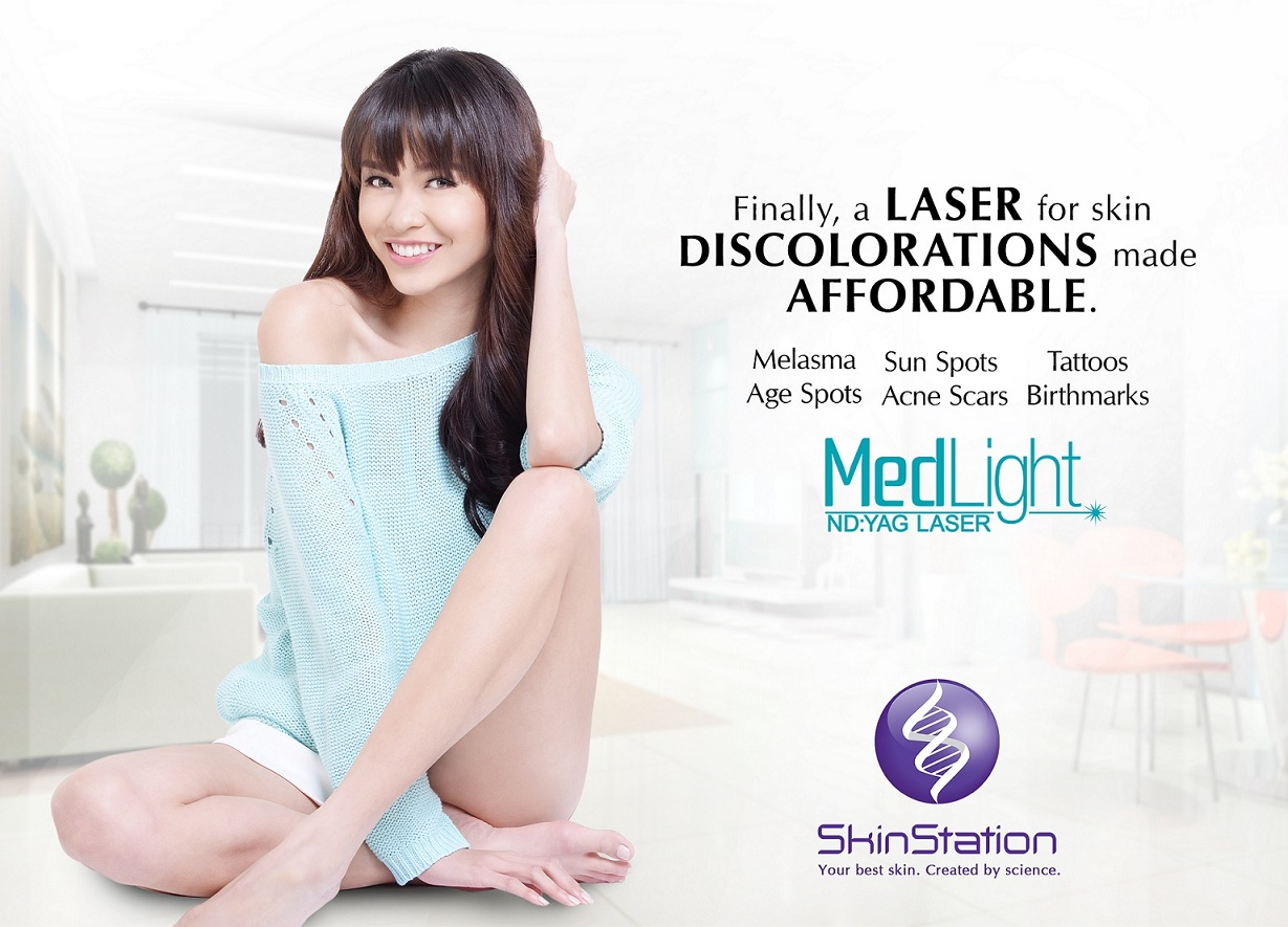 Asia's Next Top Model Cycle 4 contestant Julian Flores for SkinStation MedLight laser