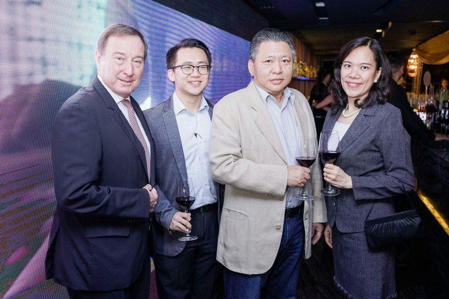 Marco Polo Ortigas Manila General Manager Frank Reichenbach, Xin Tian Ti's Karl and Samuel Po, Frontier Ortigas Hotel and Resort Corp. Lily Pedrosa