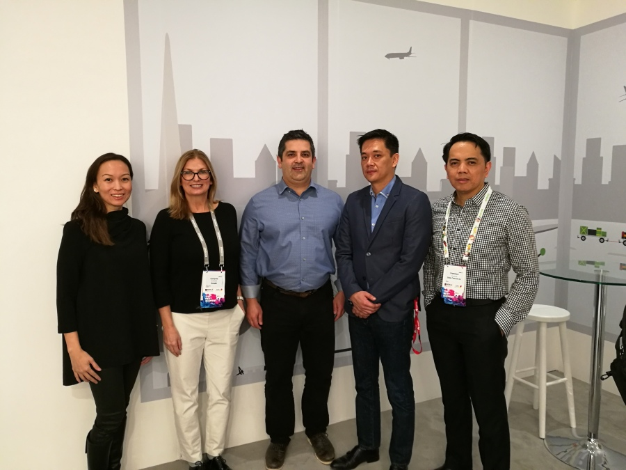 L-R: Globe's SVP for Consumer Mobile Business Issa Cabreira, Google Carrier Partnerships Carolynne Schloeder, Google Head of RCS Amir Sarhangi, Globe VP of Product Management Group Vince Yamat, Globe VP for Product Development and Management Francisco Claravall.